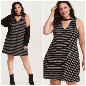 NWOT Torrid Striped Sleeveless Tank Cutout Dress